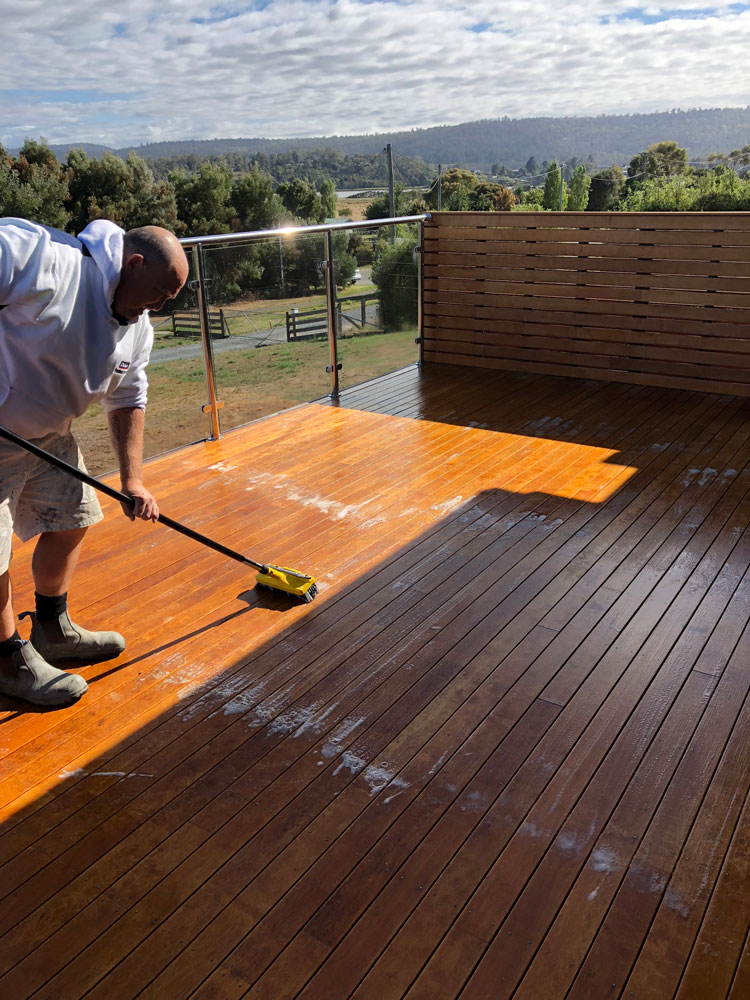 Professional Deck Staining Launceston